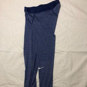 Men's Nike Leggings Basketball Blue Dri-Fit Large